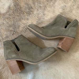 Urban Outfitters Tan Suede Booties